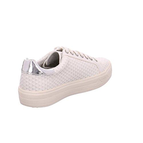Tamaris 1-1-23604-28/120 - Zapatos de cordones de Material Sintético para mujer OFFWHT. STRUC.