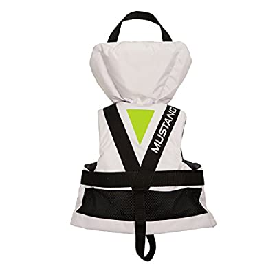 Mustang Survival Lil' Legends 100 Infant Life Vest White/Apple Green by Mustang Survival