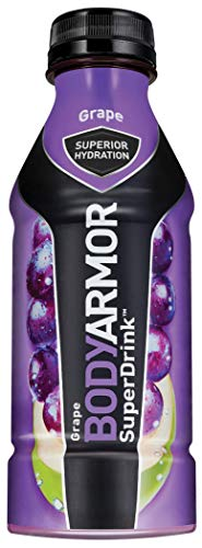 BODYARMOR Sports Drink Sports Beverage, Grape, 16 Fl Oz (Pack of 12), Natural Flavor With Vitamins, Potassium-Packed Electrolytes, No Preservatives, Perfect For Athletes