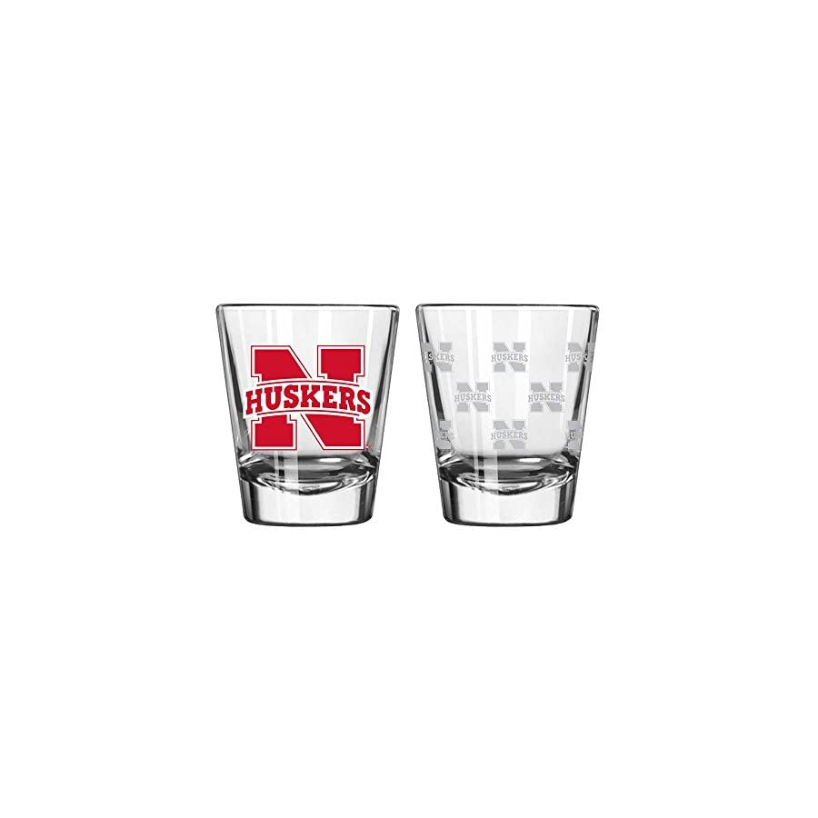 Nebraska Cornhuskers Shot Glass 2 Pack Satin Etch