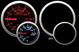 Boost Gauge- Mechanical Amber/White Performance Series 52mm (2 1/16\