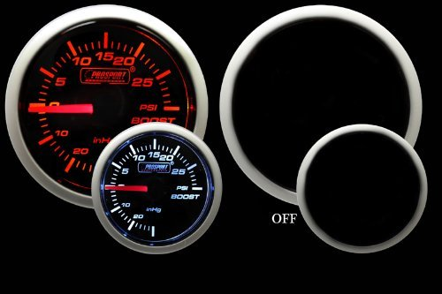 Boost Gauge- Mechanical Amber/White Performance Series 52mm (2 1/16