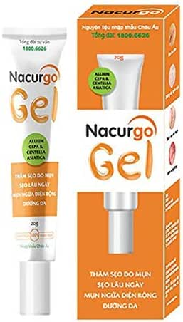 01 Tube - Nacurgo Gel - TRỊ MỤN HIỆU QUẢ -Acne treatment effect-Ship From USA time 7-14 days
