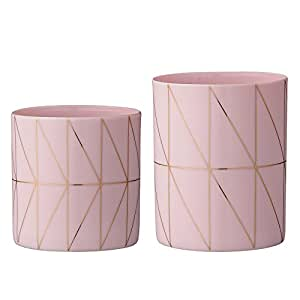 Bloomingville Nude Ceramic Votive and Tealight Holder Set