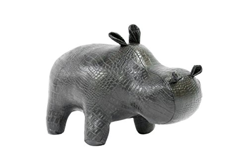 Hippo designer toy unique gift and living dining room office decor idea color brown matt Mally3391