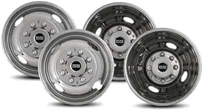 Pacific Dualies 29-1608 Polished 16 Inch 8 Lug Stainless Steel Wheel Simulator Kit for