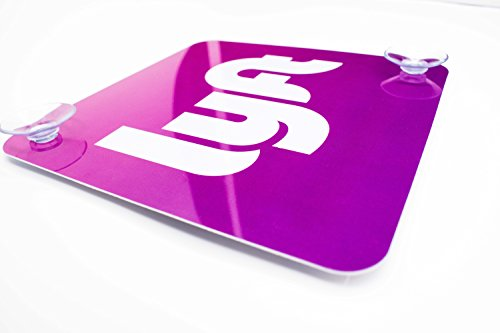 Lyft Logo  White Letter Pink Background  Pvc Plastic Window Display   Placard   Sticker   By Patched Up Designs   2 Suction Cup Design   7  X 7  In Size   Professionally Made   Satisfaction Guranteed