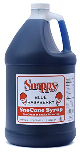 Snappy SnoCone Syrup 128 Ounce , Blue Raspberry