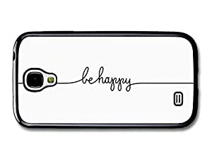 AMAF ? Accessories Be Happy Line Drawing Life & Love Inspirational Quote case for Samsung Galaxy S4
