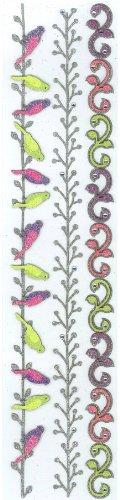 Jolee's Boutique Parcel Border, Glitter (Jolees Parcel Border Stickers)