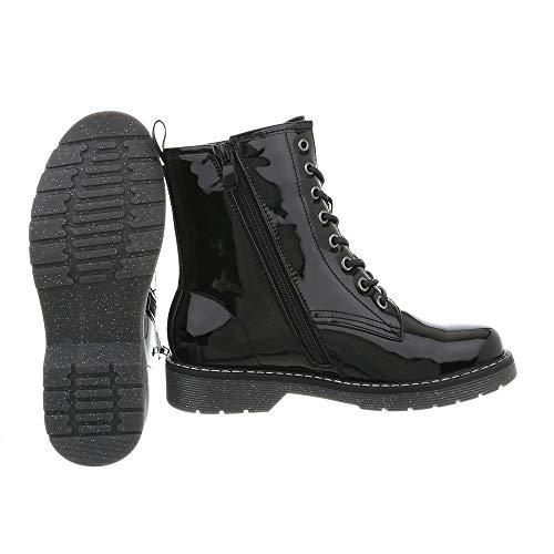 Boots H1801 Women's Ital Design Combat Schwarz Wqw8xPHfpa