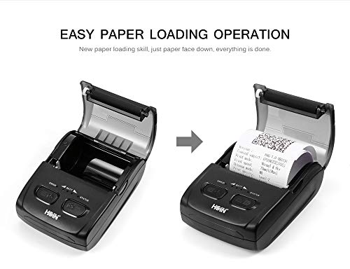 hoin rechargeable thermal printer Bluetooth with usb interface