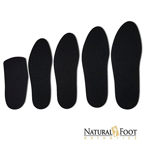 (Natural Foot Orthotic Cushions, Natural Sponge Rubber Cushions with a Nylon Covering Perfect to be Worn Over Orthotic Arch Support Insoles. Womens Size 8)