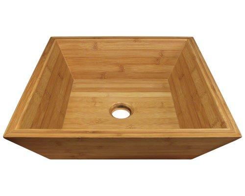 Vessel Bath Bamboo Sink (Polaris Sinks P198 Bamboo Vessel Bathroom Sink)