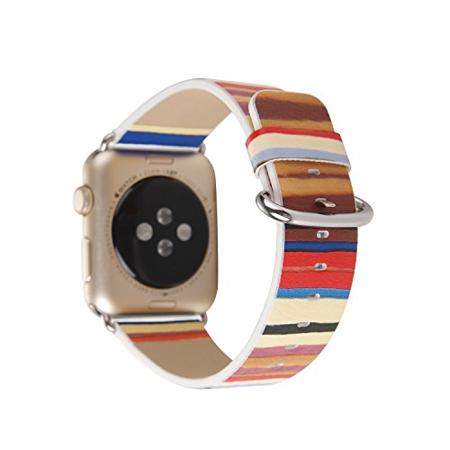 Replacement Band PU Leather Watch Strap With