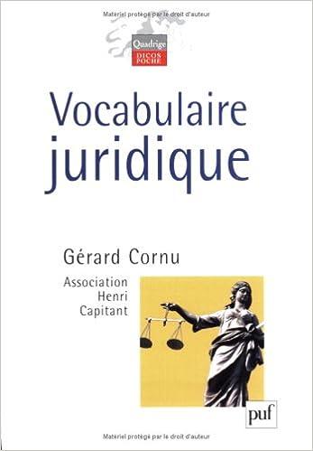 vocabulaire juridique cornu