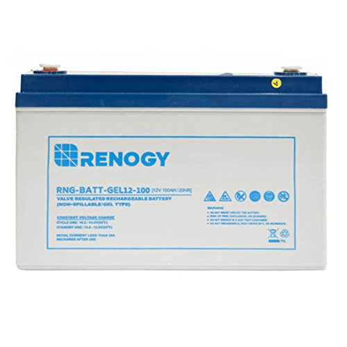 - Renogy 12V 100Ah Rechargeable Deep Cycle Pure Gel Battery