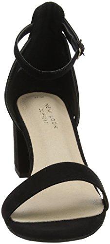 New Look Women's Values Open Toe Heels Black (Black 1) DObWO0pj