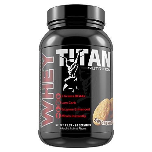 Titan Premium Whey Protein (Snickerdoodle, 2 lb) by Titan Nutrition