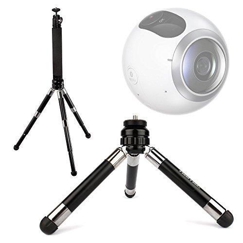 DURAGADGET軽量&ウルトラポータブル伸縮2イン1 三脚/一脚( selfie-pod ) for the新しいSamsung Gear 360カメラ