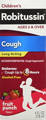 Robitussin Children's Cough Long-Acting Liquid Fruit Punch Flavor 4 OZ - Buy Packs and SAVE (Pack of - Acting Cough Long Liquid