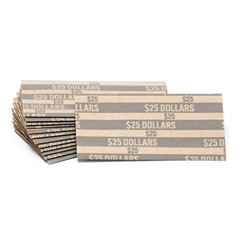 Sacagawea Dollar Flat Striped Coin Wrappers, Bundle of 100