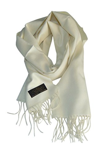Annys Super Soft 100% Cashmere Scarf 12 X 72 with Gift Bag (Ivory) ()