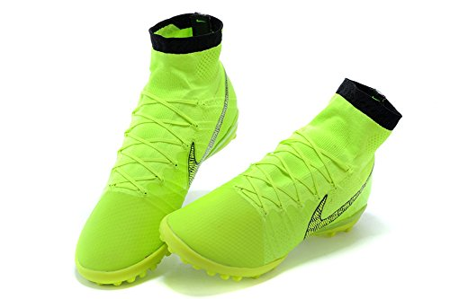 stengren zapatos de fútbol para hombre Elastico Superfly TF fluorescente greensoccer botas, hombre, verde fluorescente, 45