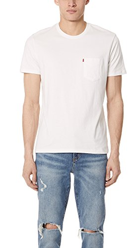 Mens Levis Red Tab (Levis Red Tab Men's Sunset Tee, Off White, Medium)
