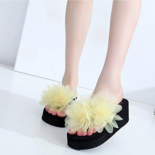 lady scarpe spesso flip Estate da clip fashion piede spiaggia flop antislittamento fondo FLYRCX pendenza sandali outdoor con a w4dvc6qC