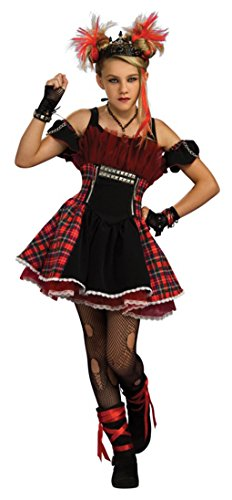 [Punk Ballerina Costume - Teen 2 - 6] (Gothic Ballerina Halloween Costumes)