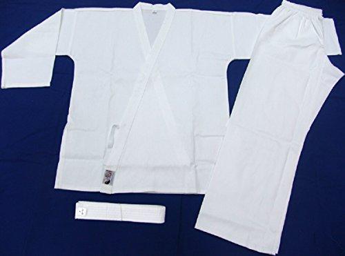 Otomix Martial Arts Karate Uniform Open Cut 6 Oz. Cotton/poly (0, White)