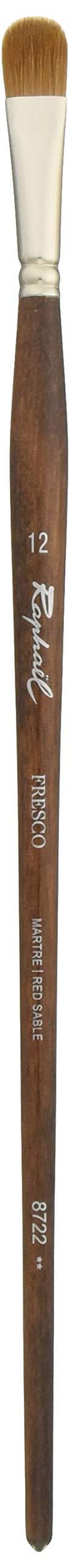 Raphael Fresco Red Sable, Oil Paint Brush, Series 8722, Filbert, Size 12