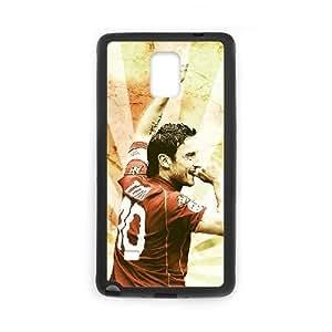 Francesco Totti 019 Funda Samsung Galaxy Note 4 Funda Caja del teléfono celular del teléfono de Negro duro S7E4GD3P 3D