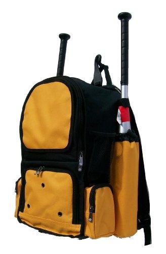 Gold Youth Baseball Bat - Maxballbags Black and Athletic Gold Chita CY Small Softball Baseball Bat Equipment Backpack BKAGCY
