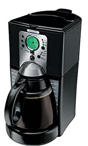 Mr. Coffee 12-Cup Programmable Cone Coffeemaker, Black