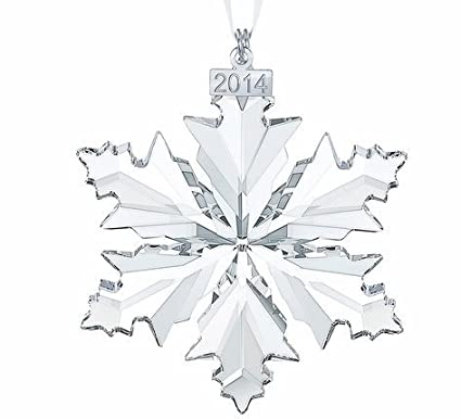 0491b71cc Amazon.com: Swarovski Annual Edition 2014 Crystal Snowflake Ornament: Home  & Kitchen