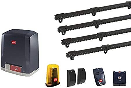 Dieffematic BFT Kit Puerta corredera Deimos Ultra BT A400 24 V 400 kg + 4 Metros Cremallera: Amazon.es: Hogar