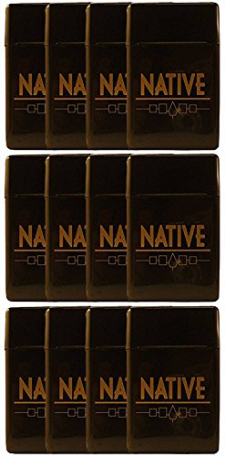 12 Pack Native Flip Top Hinged Lid Sectioned Cigarette Case for King Size