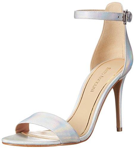 Enzo Angiolini Women's Manna Leather Dress Sandal, Silver, 6.5 M US