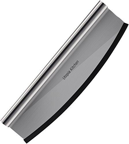 Utopia Kitchen Premium 14 Pizza Cutter with 430 Grade Stainless Steel Sharp Rocker Blade