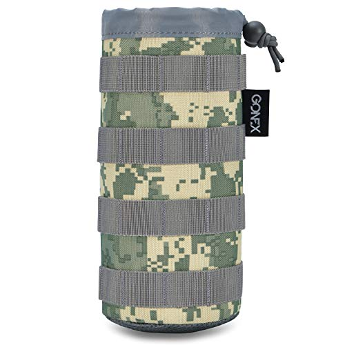 Gonex Tactical Military MOLLE Water Bottle Pouch ACU Camo