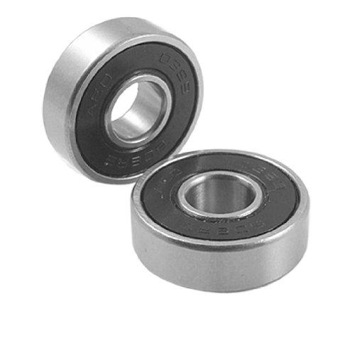 uxcell Amico 5 Pcs 608RS 8 x 22 x 7mm Shield Deep Groove Ball Bearings