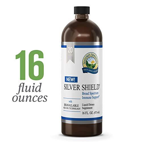 - Nature's Sunshine Silver Shield Liquid, 16 fl. oz. | Colloidal Silver Liquid with Aqua Sol Technology Provides Immune Support and Protection