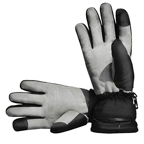Aroma Season Unisex Heated Gloves for Raynauds Disease, Skiing, Motorcycling, Mountaineering, Walking Dogs, Fishing (L/XL)
