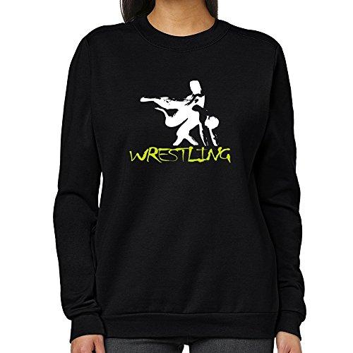 Teeburon Wrestling Women Sweatshirt by Teeburon