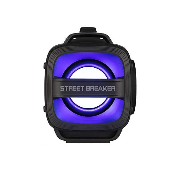 NGS Street Breaker - Bombe Portable de 200 W avec Technologie True Wireless et Bluetooth (USB/MicroSD/AUX-in). Couleur : Noir. 3