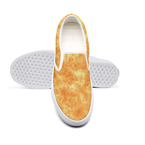 Lace-Free Canvas Flames Seamless Pattern Orange Womens Sneakers Wear-Resistant Flat Best Skateboarding -