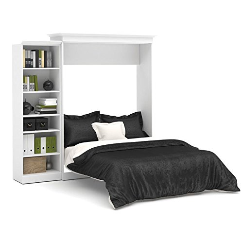 Bestar Furniture 40880-17 Versatile 92'' Queen Wall Bed Kit Including Six Shelves with 2 Fixed and 4 Adjustable in by Bestar
