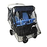 Ezkindheit Weather Shield for Double Stroller Universal Side by Side Baby Stroller rain Cover